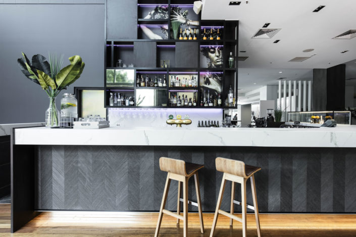 Fixed, Novotel Brisbane - Gourmet Bar, office defits, fitout services, office stripouts, refurbishments
